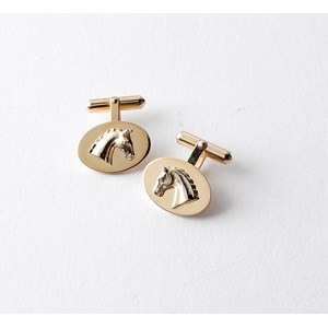 Horse Head on Disc Cufflinks