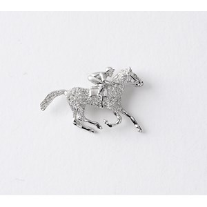 Highflying Brooch, Pave Set with Diamonds