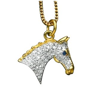 Medium Horse Head Pave Set with Diamonds